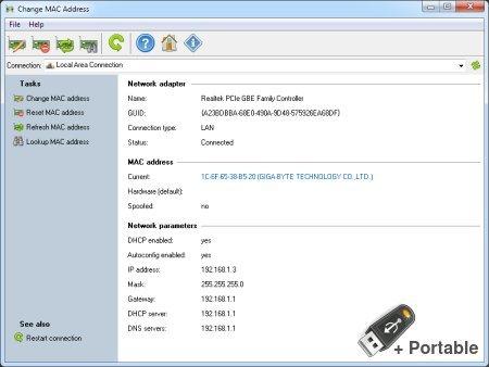 Change MAC Address 21.06 + Portable