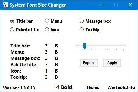 System Font Size Changer 2.0.0.4