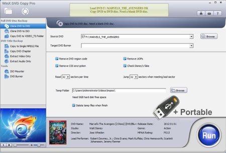WinX DVD Copy Pro 3.9.6 + Portable