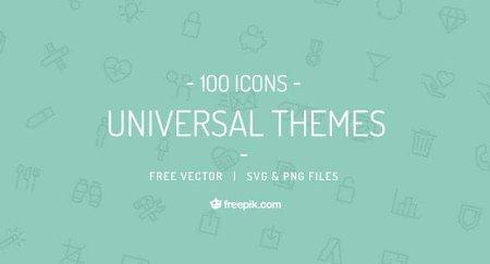 Universal Themes Vector Icon Set