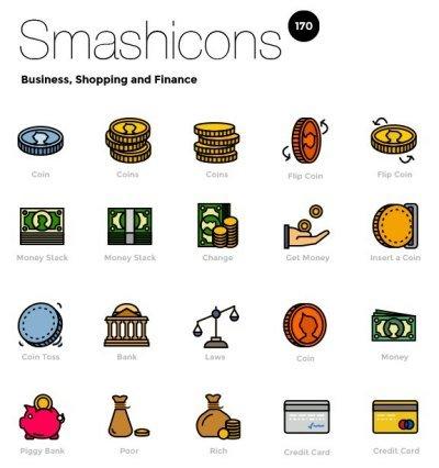 Smashicons: 170 Retro Business Icons