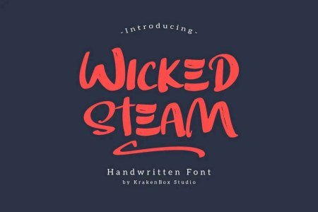 Wicked Steam Font