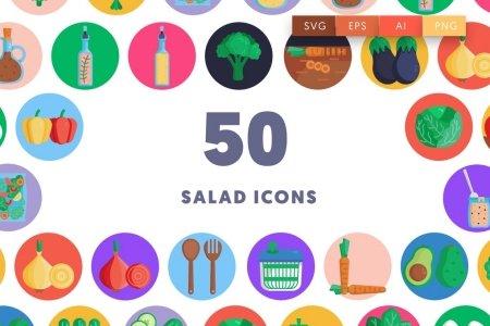 50 Salad Icons