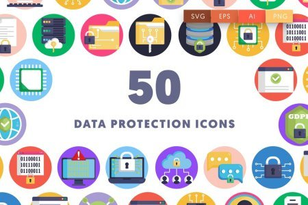 50 Data Protection Icons