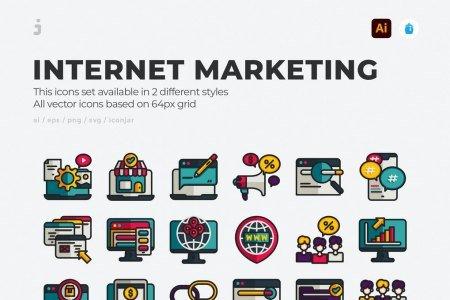 30 Online marketing Icons