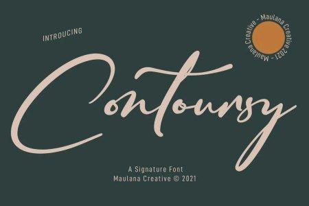 Contoursy Signature Font