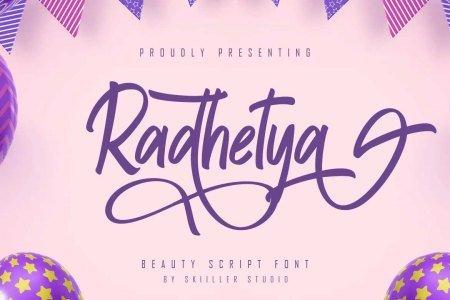 Radhetya Font